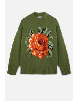 Oversize Flower Sweater by Ami Paris