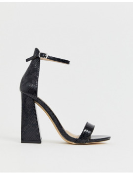 co-wren-wide-fit-barely-there-block-heeled-sandals-in-black by asos