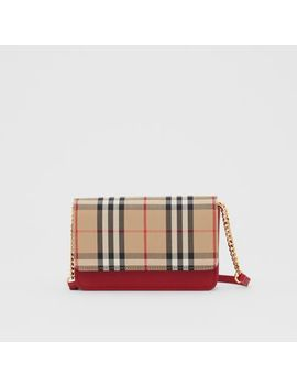 vintage-check-canvas-and-leather-bag by burberry