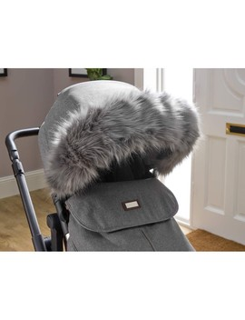 Clair De Lune Universal Pushchair Faux Fur Hood Trim (Grey) by Precious Little One