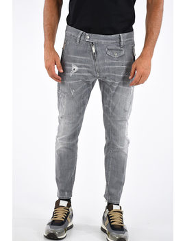 13cm-distressed-leather-biker-jeans by dsquared2