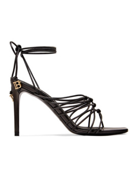 mikki-knotted-leather-sandals by balmain