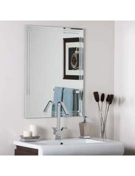 """Frameless Tri Bevel 23 1/2"""" X 31 1/2"""" Wall Mirror by Lamps Plus"""