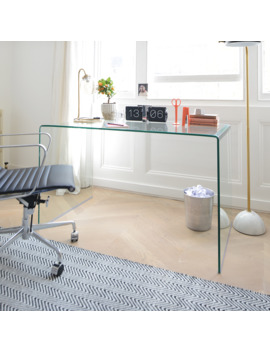 Puro Glass Desk Clear by Dwell