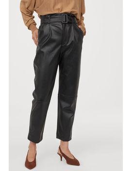 kalhoty-ke-kotníkům-s-páskem by h&m