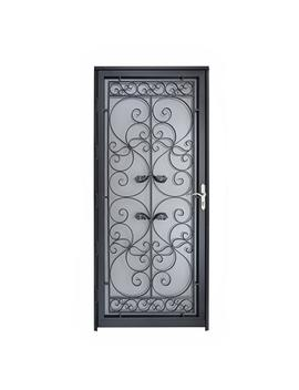naples-36-in-x-80-in-black-full-view-wrought-iron-security-storm-door-with-reversible-hinging by grisham