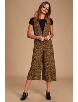 fierce-and-free-leopard-print-denim-wide-leg-overalls by lulus