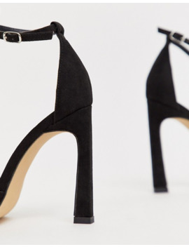 london-rebel-barely-there-heeled-sandals-in-black by asos
