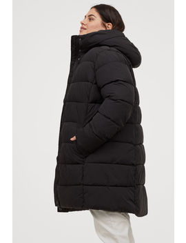 h&m+-padded-hooded-jacket by h&m