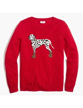 dalmatian-teddie-sweater by jcrew