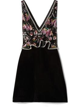 embellished-velvet-peplum-mini-dress by self-portrait