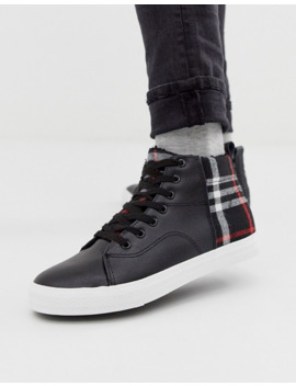 brave-soul-high-top-trainers-with-checked-panels by asos