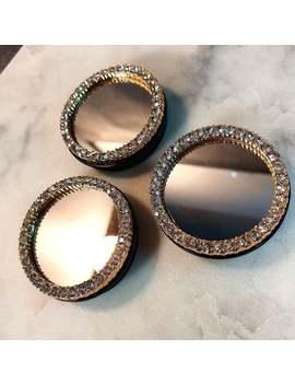 swarovski-mirror-phone-grip-cap,-phone-holder-cap,-phone-stand-cap,-stone-phone-grip,-gold-crystal-phone-grip,-veteran-owned-business by etsy
