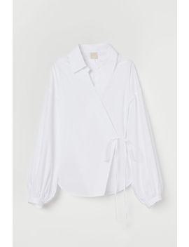 bavlněná-zavinovací-košile by h&m