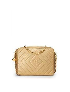 Gold Metallic Lambskin Camera Bag Medium by Chanel