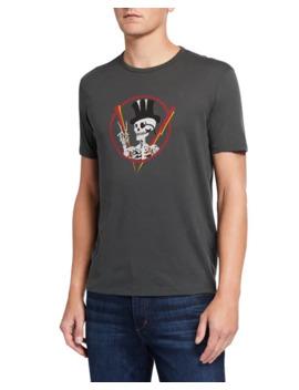 john-varvatos-mens-top-hat-skeleton-graphic-t-shirt by john-varvatos