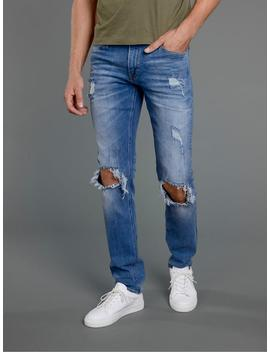 Slim Fit Glenn 848 Jeans With Ripped Knees by Jack & Jones