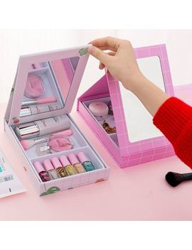 fun-house---foldable-mirror-with-desk-organizer by fun-house