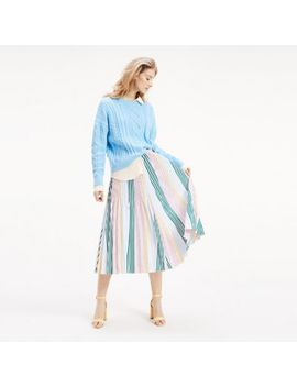 stripe-pleated-midi-skirt by tommy-hilfiger