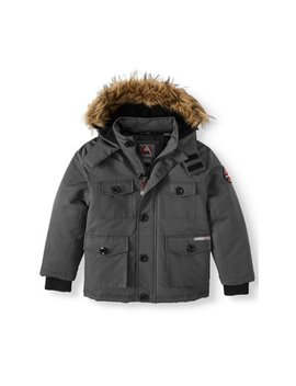 avalanche-water-resistant-parka-with-faux-fur-hood-(little-boys-&-big-boys) by avalanche