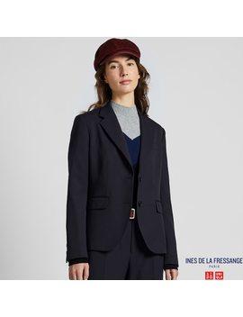 women-ines-wool-blend-jacket by uniqlo