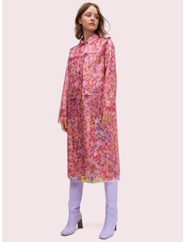 Marker Floral Translucent Coat by Kate Spade
