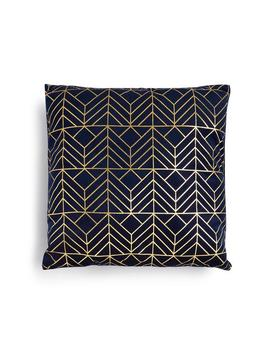 blue-and-gold-patterned-cushion by primark