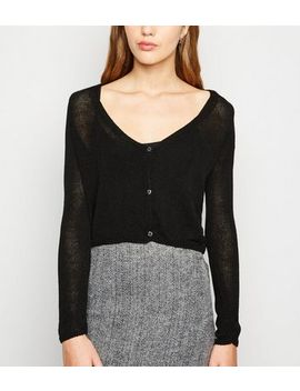 carpe-diem-black-fine-knit-cardigan by new-look