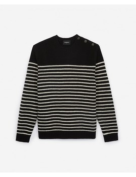 black-and-ecru-wool-striped-sweater by the-kooples