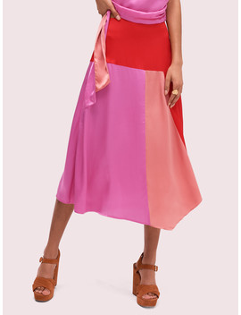 Colorblock Fluid Skirt by Kate Spade
