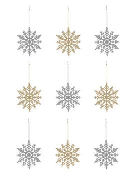 snowflake-decoration-9pk by primark
