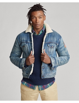Fleece Lined Denim Jacket by Ralph Lauren