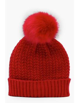 cable-knit-beanie by boohoo