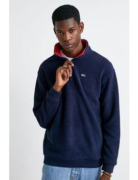 tommy-jeans-fleece-quarter-zip-mock-neck-sweatshirt by tommy-jeans