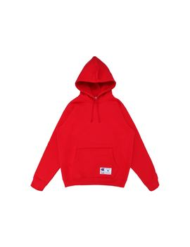 supreme-champion-hooded-sweatshirt-(ss18)-red by stockx