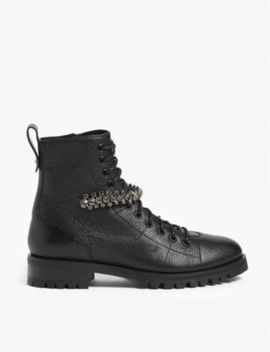 cruz-embellished-leather-ankle-boots by jimmy-choo