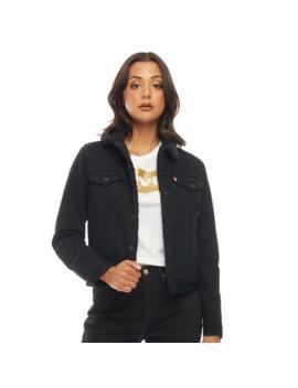 levis-womens-original-sherpa-trucker-jacket-forever-black by levis