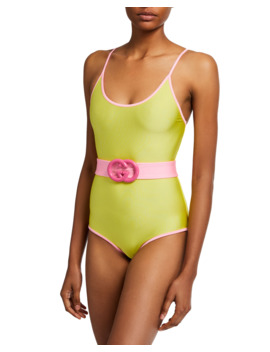 gg-belted-sparkling-one-piece-swimsuit by gucci