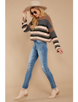 likely-outcome-light-brown-multi-stripe-sweater by mustard-seed