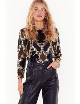 its-magic-sequin-mesh-blouse by nasty-gal