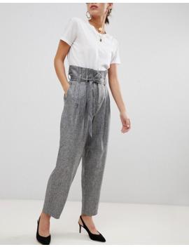 uinque-21-paper-bag-waiste-tie-front-trouser by unique-21