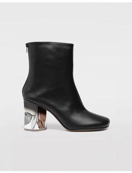 Trompe L'œil Calfskin Boots by Maison Margiela
