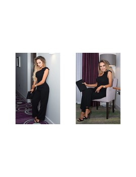 riah-black-one-shoulder-jumpsuit-with-bow-detail by missfiga