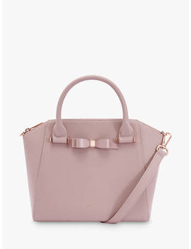 ted-baker-jaelynn-bow-leather-tote-bag,-light-pink by ted-baker