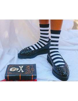 black-spiked-pointed-ballet-ankle-strap-creeper by tuk