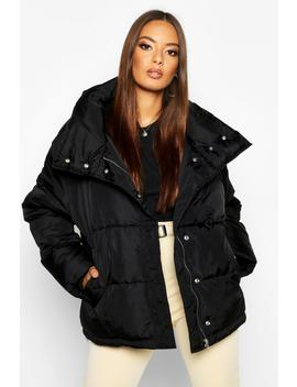 funnel-neck-oversized-puffer by boohoo