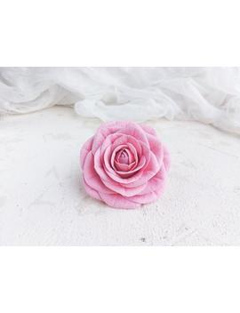 roses-hair-clip-pink,-real-touch-flowers-hair-piece,-bridesmaid-floral-headpiece,-wedding-roses-barrette,-hair-scrunchis-for-flower-girl by etsy