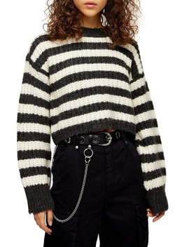 stripe-crewneck-sweater by topshop