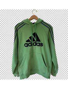 90s-adidas-hoodie-__-y2k-three-stripe-sleeves-adidas-hooded-sweatshirt-green-gray-black-__-mens-small-adidas-pullover by etsy