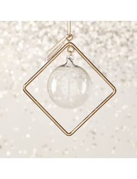 suspend-clear-diamond-shaped-ornament by crate&barrel